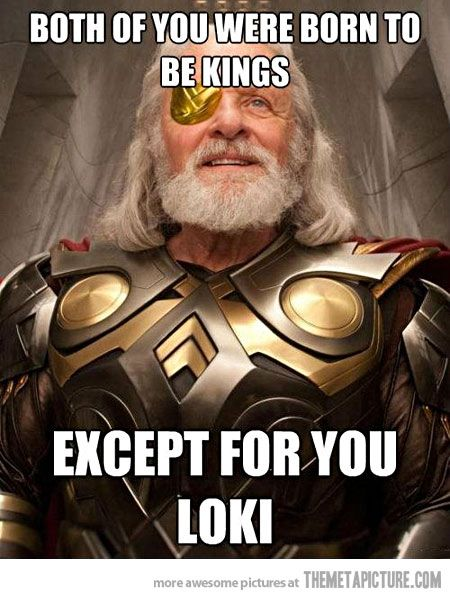 More Grade A parenting from Odin. And he wonders why Loki turned out the way he did?