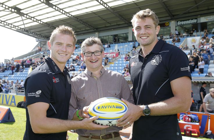 Partner Graham Cridland with the Exeter Chiefs