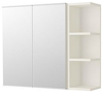 Lillången Mirror Cabinet With 2 doors and 1 End Unit, White - modern - medicine cabinets - IKEA