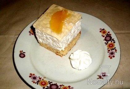 Narancsos tejberizses kocka