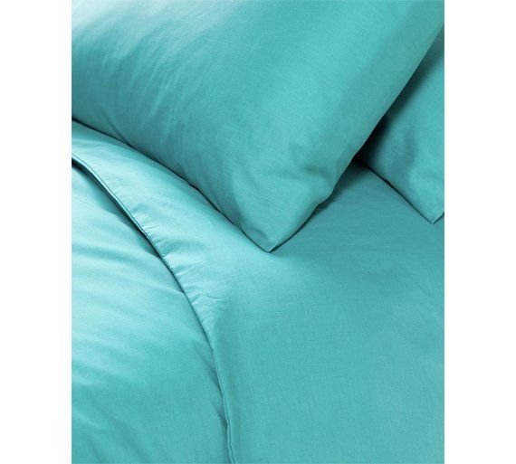 Buy ColourMatch Teal Bedding Set - Double at Argos.co.uk, visit Argos.co.uk to shop online for Duvet cover sets, Bedding, Home and garden