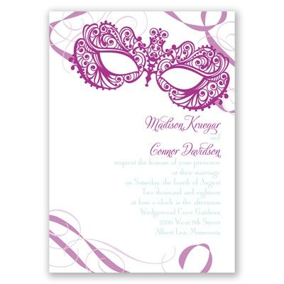masquerade wedding invitation | mardi gras wedding invites at Invitations By Dawn