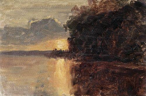 Финский художник-пейзажист Magnus Hjalmar Munsterhjelm (1840-1905)