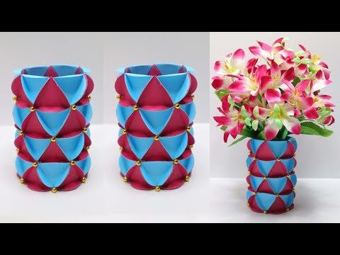 Vas Bunga Dari Botol Bekas Vas Bunga Dari Kertas Dan Botol
