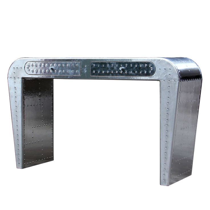 The Pilot Mach Desk echos aviation furniture made from aircraft parts. Using riveted aluminium or copper sections that have been hand polished to a brushed finish, this high quality desk looks like something cast from the remains of a fighter or bomber! Perfect for themed man caves or offices, this desk makes an ideal companion to our Pilot chairs. http://www.the-man-shed.com