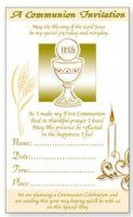Chalice Communion Invitation Cards.