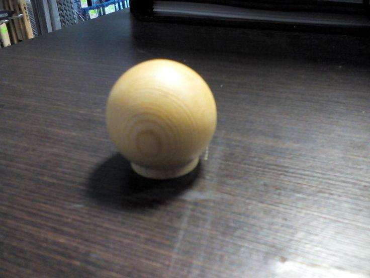 Gałka meblowa okrągła drewniana mała sosna