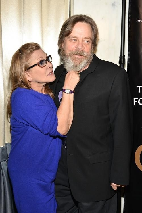 Mark Hamill & Carrie Fisher - a day off from filming Star Wars Episode VII