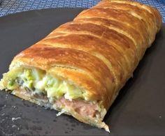 Feuilleté crousti-crémeux saumon/poireaux