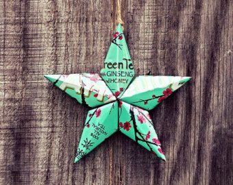 Upcycled Arizona Green Tea Can Star Ornament
