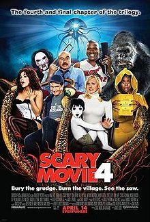 "Scary Movie 4:  Cindy finds out the house she lives in is haunted by a little boy and goes on a quest to find out who killed him and why. Also, Alien ""Tr-iPods"" are invading the world and she has to uncover the secret in order to stop them."