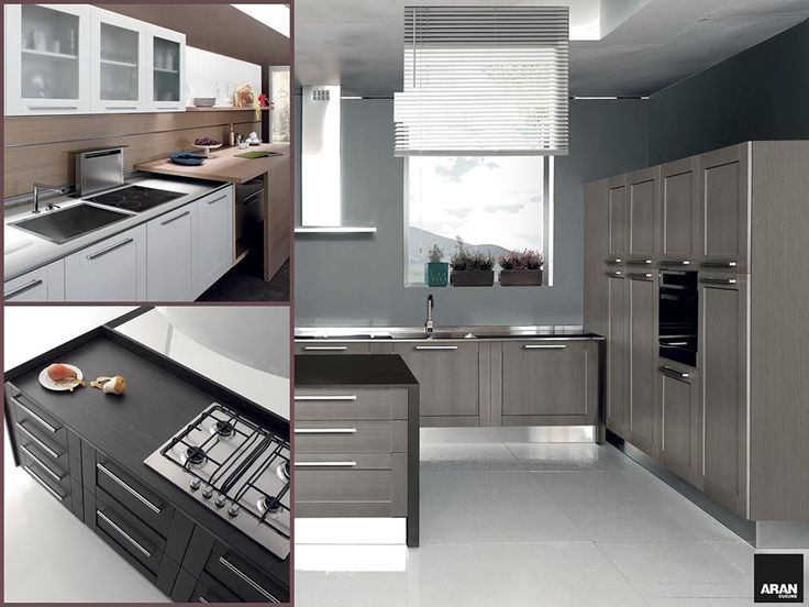 Oltre 25 fantastiche idee su cucine grigio chiaro su - Cucina grigio scuro ...