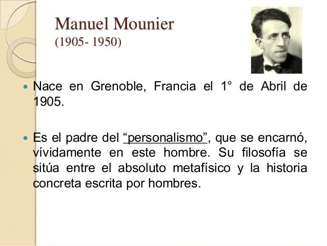 personalismo pedagogico mounier - Google Search