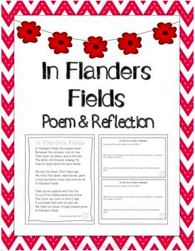 FREEBIE: In Flanders Fields: Poem & Reflection for Remembrance Day