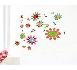Funky Flowers wall sticker available at www.kidzdecor.co.za. Free postage throughout South Africa