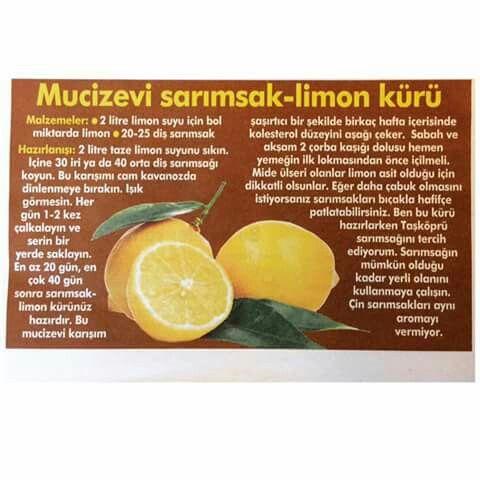 Sarımsak - Limon kürü / Ender Saraç