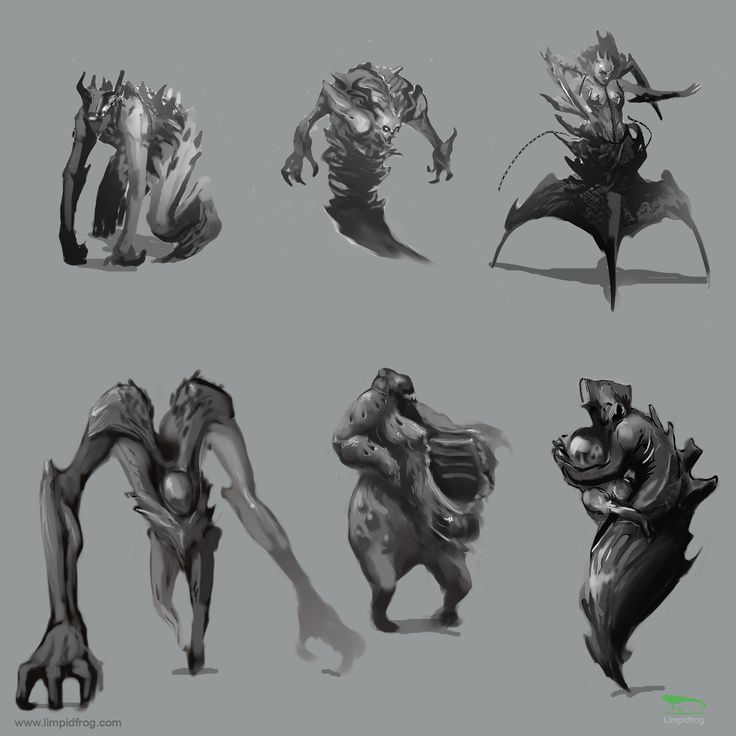 30min Thumbnail sketches, creature design #gameart #filmaking #preproduction