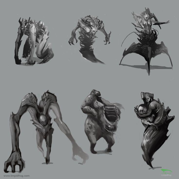 30min Thumbnail sketches, creature design #gameart #filmaking #preproduction