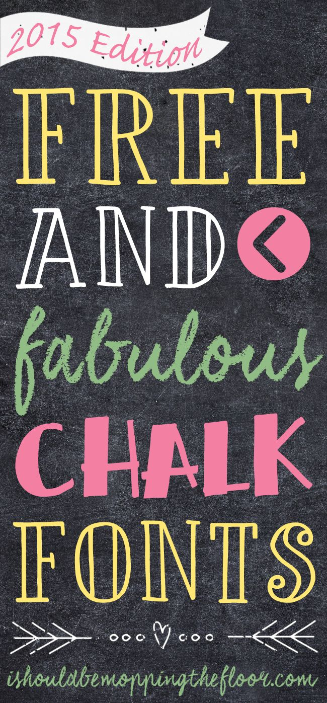 Free and Fabulous Chalk Fonts Part Two  ~~  w/ easy download links - free for Personal Use Only