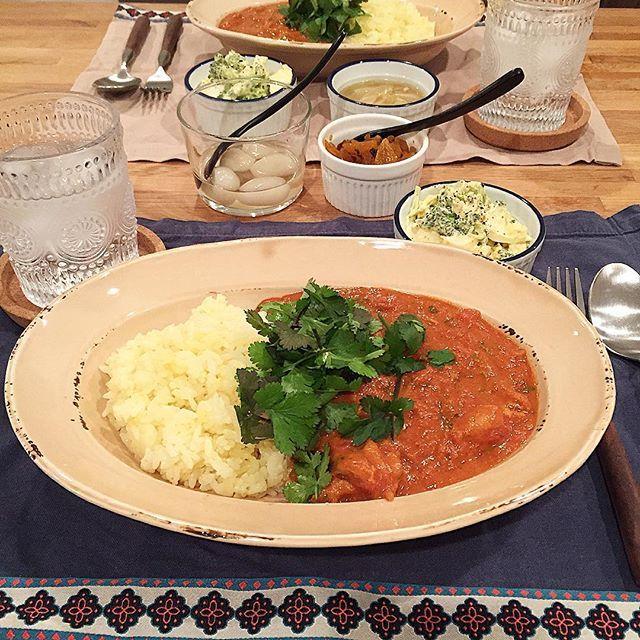 hi_rose80 on Instagram pinned by myThings Today's dinner .  バターチキンカレーでこんばんは☺︎ .  と言っても、バターは控えめに。 トマトチキンカレーかな? どちらでもいいか。 .  パクチー乗っけて♡ ルーにも細かく刻んで投入。 .  ブロッコリー・卵・ポテトのサラダも。 . .  ごちそうさまでした! . .  #dinner #homemade #curry #butterchickencurry #tomatochickencurry #foodie #foodpic #foodporn #kaumo #kurashirufood #cookingram #delistagrammer #クッキングラム#デリスタグラマー#夕飯#夕食#晩ごはん#おうちごはん#カレー#バターチキンカレー#トマトチキンカレー#新米ママ #男の子ママ #生後10ヶ月 #10months #5月生まれ#パクチー#パクチー部#パクチー祭#パクチーlove