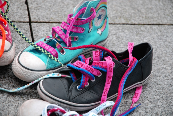 All around the country schools, sports clubs and business are being invited to join the 'lace' and support the Funky Feet campaign, by buying and wearing a pair of funky, multi-coloured shoelaces.