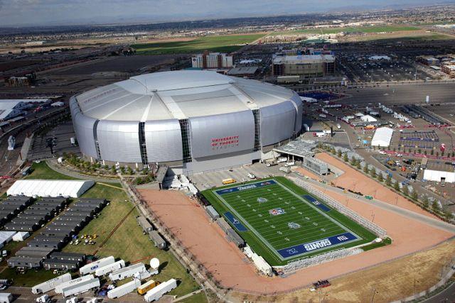 Natural Turf Field at University of Phoenix Stadium Home of the Arizona Cardinals