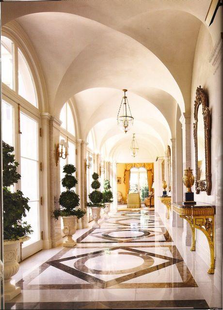 Sleek Cream Hallway Interior Design from Alexa Hamptons' book The Language of Interior Design