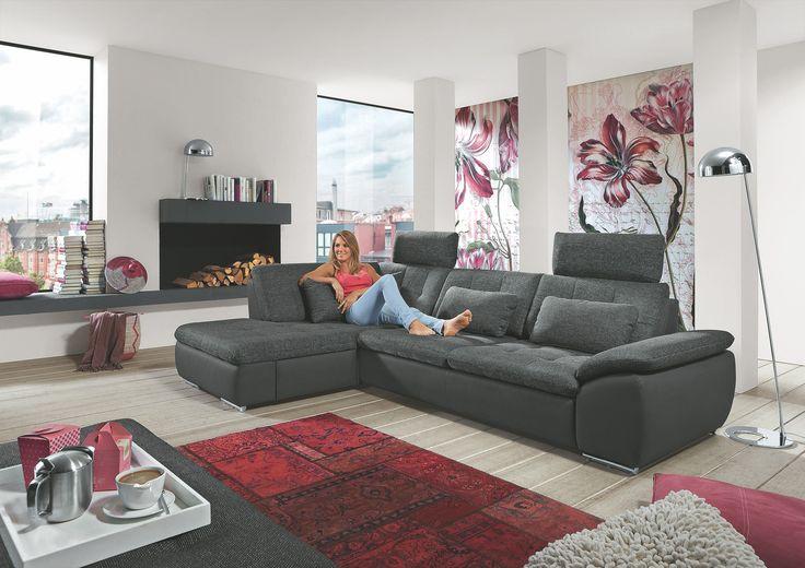 75 best schlafsofas images on pinterest living room for Wohnlandschaft junges wohnen