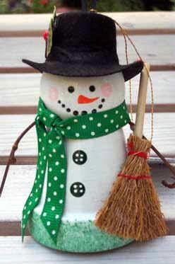pot snowman clay pot snowman crafts pot snowmen snowman ornaments pot ...