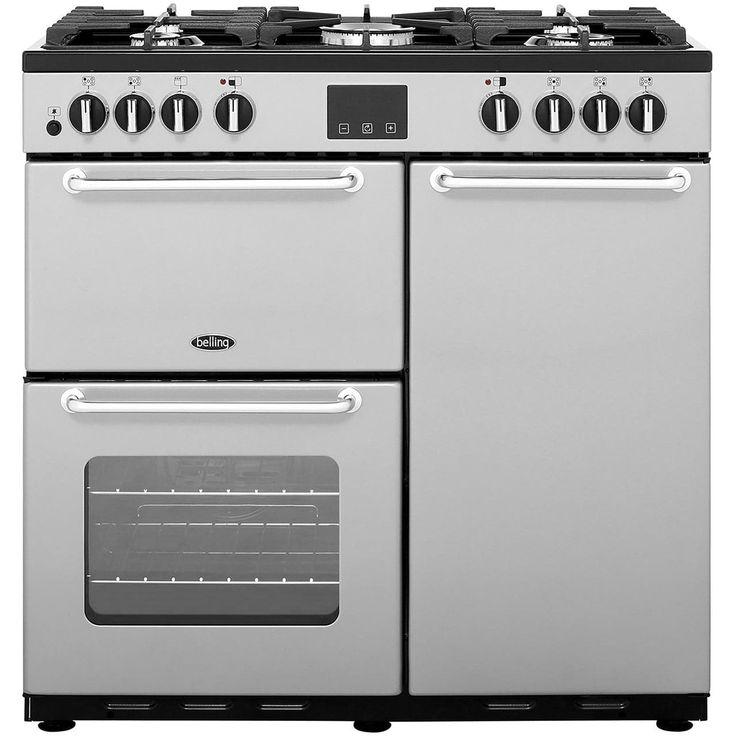 SANDRINGHAM90DFT_SI | Belling range cooker | silver | ao.com