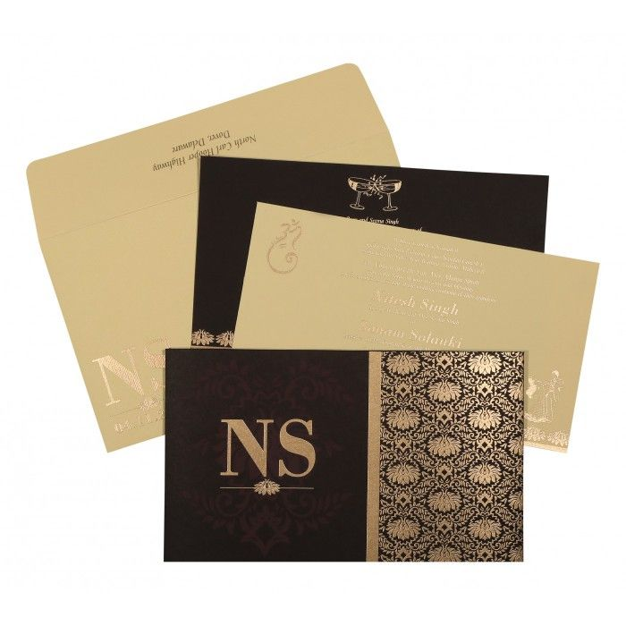 indian wedding hindu invitations%0A Give your wedding a special feel with our exclusive Brown  Matt paper  Hindu  Wedding Cards
