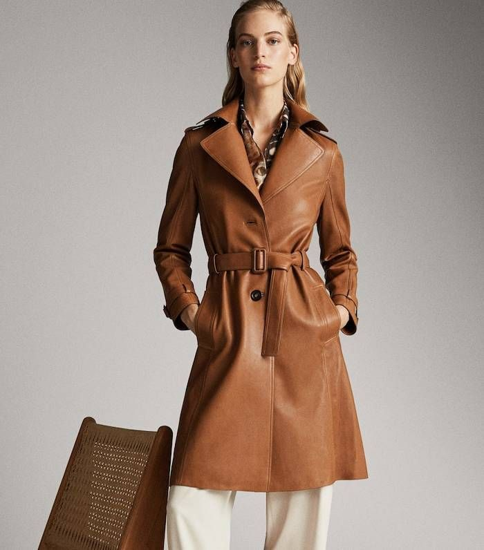 Massimo Dutti Belted Nappa Trench Coat How To Look Rich High Fashion Street Style Who What Wear