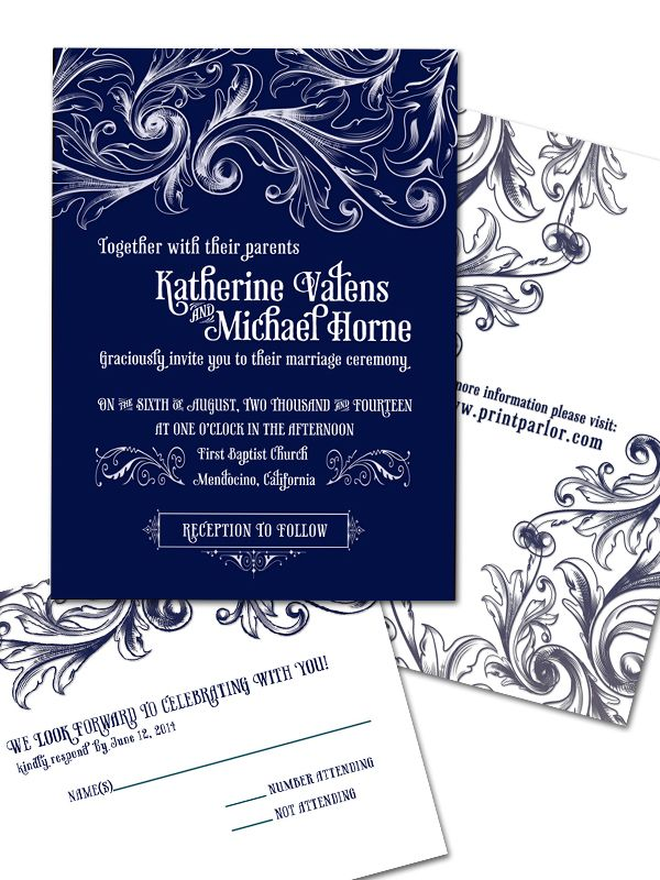 civil wedding invitation card%0A Navy Blue and Lace Wedding Invitations  featured on Navy Wedding  Inspiration via http