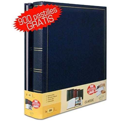 Set of 2Jumbo Traditional Photo Album 100Pages for 500Photos 10x 15cm–Blue