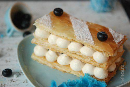 Мильфей с ванильным кремом и голубикой (Millefeuille), рецепт с фото. Домашние рецепты