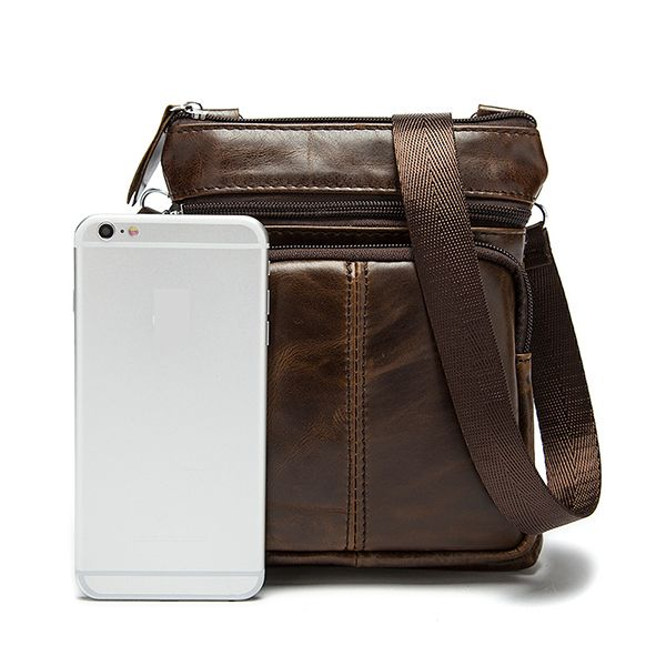 Men Genuine Leather Crossbody Bag Cowhide Leather Business Vintage Shoulder Bags is worth buying - NewChic