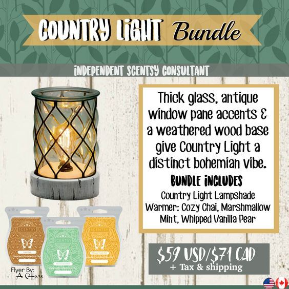 scentsy country light bundle  combine and save