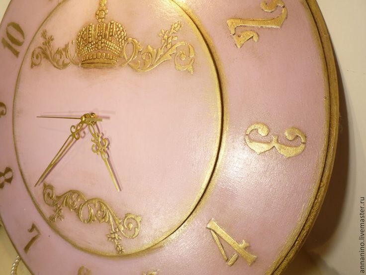Купить Настенные часы Королевский Винтаж в розовом - часы настенные, настенные часы