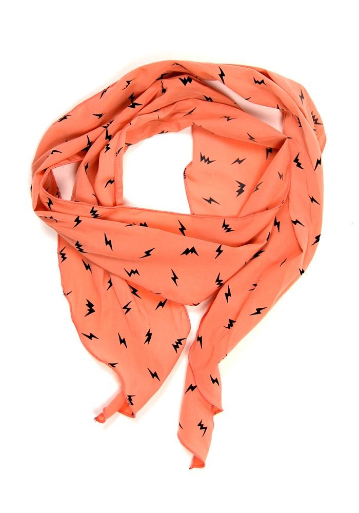 Coral lightning scarf