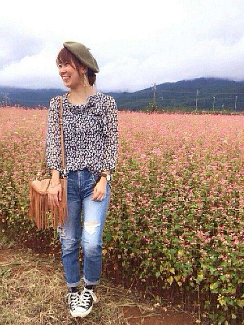 こんばんは☺️❤️ 長野から帰ってきました!🚗✨ そばの花祭りがやっていて、素敵な花畑からお送りし