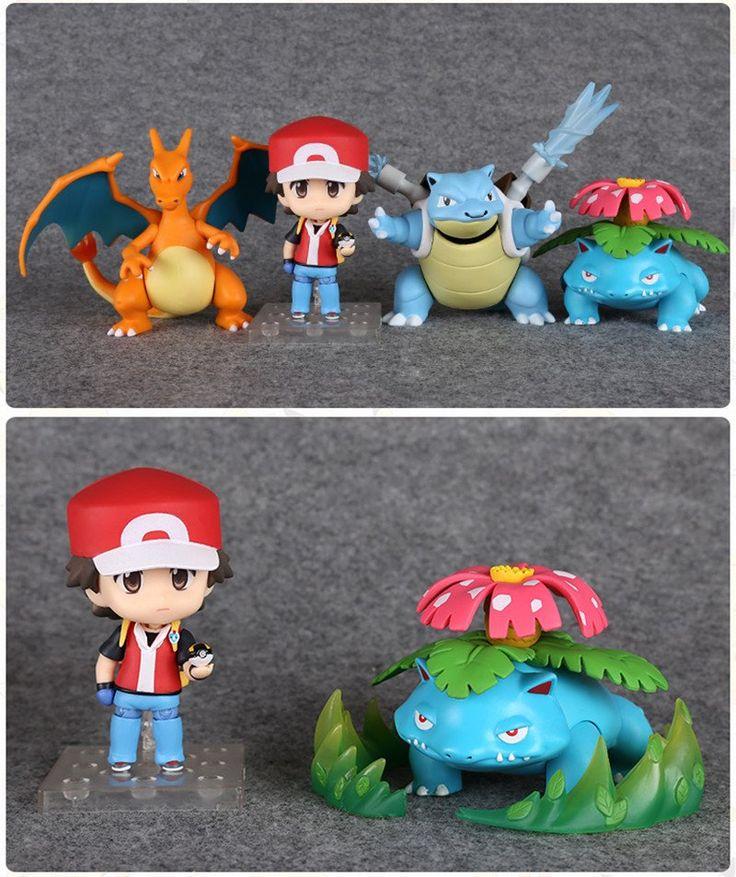Complete Nendoroid Pokemon Trainer Red Pokemon Action Figures