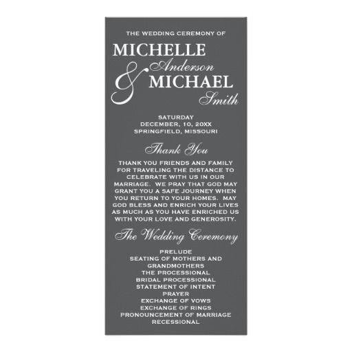 Best Wedding Program Card Images On   Wedding