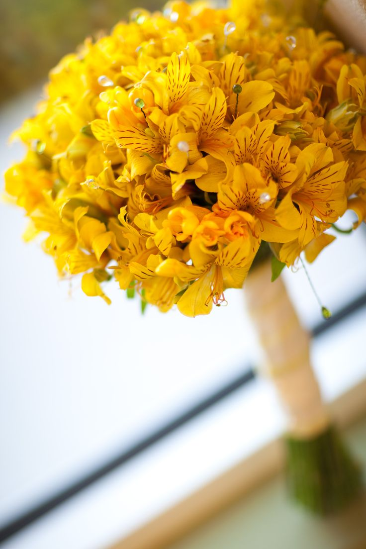 Yellow Alstromeria (Peruvian Lily) Wedding Bouquet ^^^^