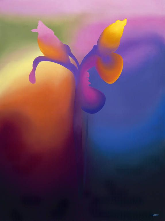 "Saatchi Art Artist: Patrick Howe; Oil 2013 Painting """"Awakening 3 (Iris)"""""