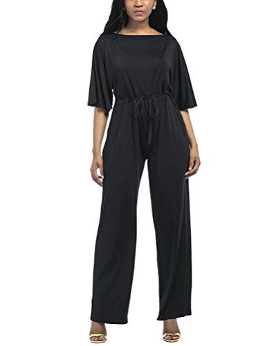 cool Damen Casual Hohe Taille Wide Leg Lange Hose Jumpsuits Overall Rompers Schwarz L Check more at https://designermode.ml/shop/77028031-bekleidung/damen-casual-hohe-taille-wide-leg-lange-hose-jumpsuits-overall-rompers-schwarz-l/