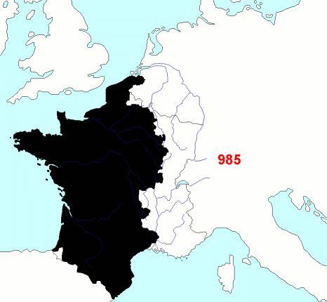 Carte de la Frontière Française depuis le moyen age