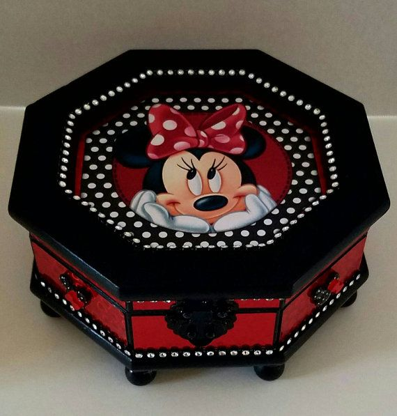 Upcycled Minnie Mouse Jewelry Box