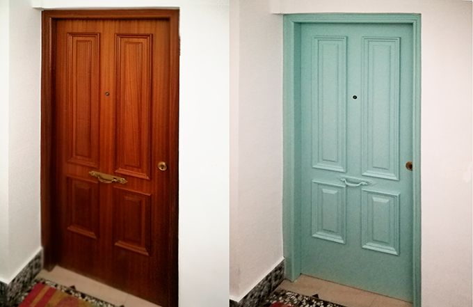 Pintar puertas de madera con Eggshell - El proceso en video