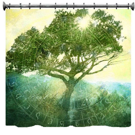 Rooted in Time Shower Curtain  69 X 70 by susanakame1 on Etsy, $89.00