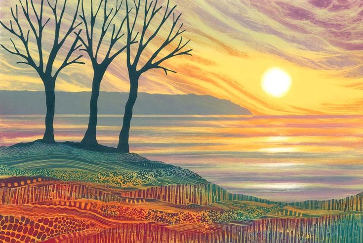 A Perfect Moment monotype by Northumberland artist Rebecca Vincent